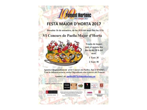 "VI Concurs ""Paella Major d'Horta"
